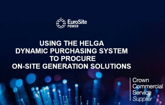 Using the HELGA Dynamic Purchasing System to procure on-site generation solutions